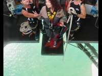 Ali about to bungy jump