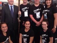 John Key and ITC students