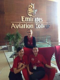 Chelsea at Emirates Aviation College in Dubai.