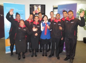 ITC Students Volunteering at Auckland Airport