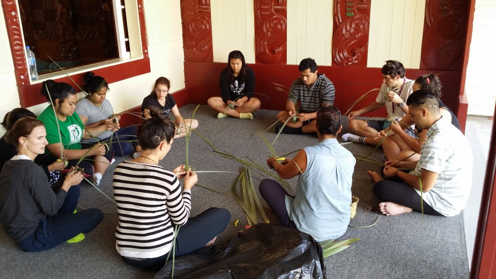 ITC students are taught traditional Maori Flax weaving