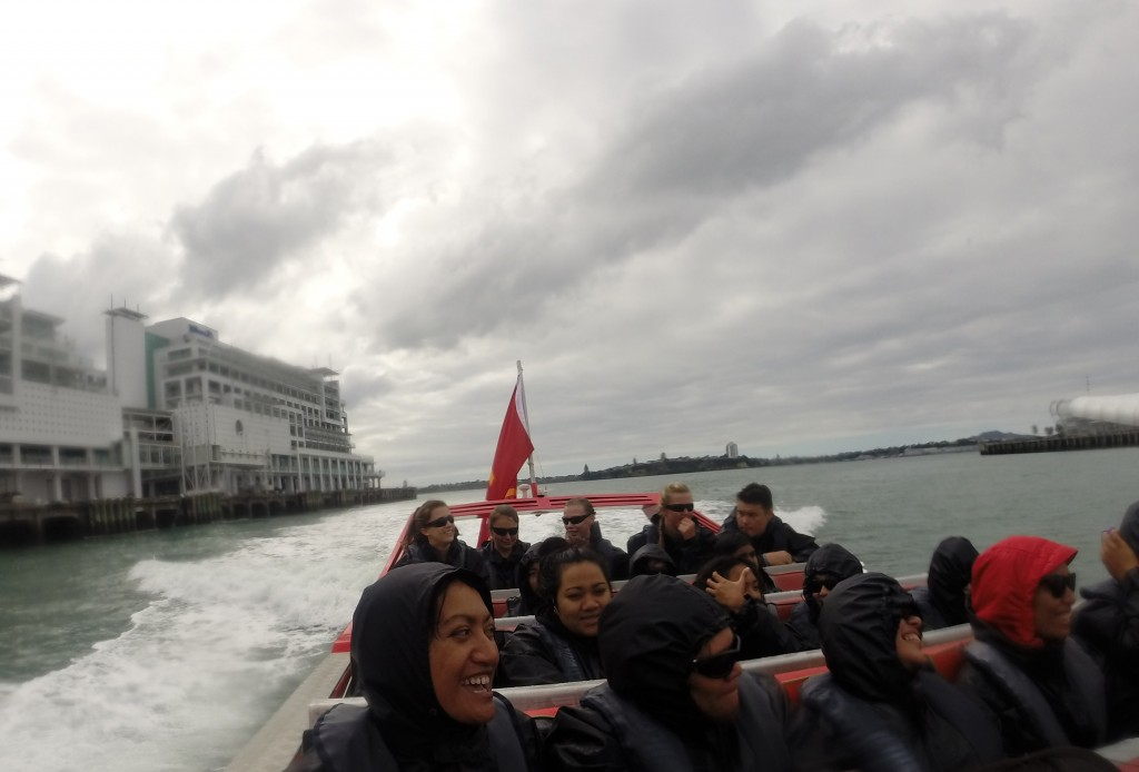 ITC students experience some of Auckland's top attractions during the Tourism Short Course, such as Adventure Jet Boating