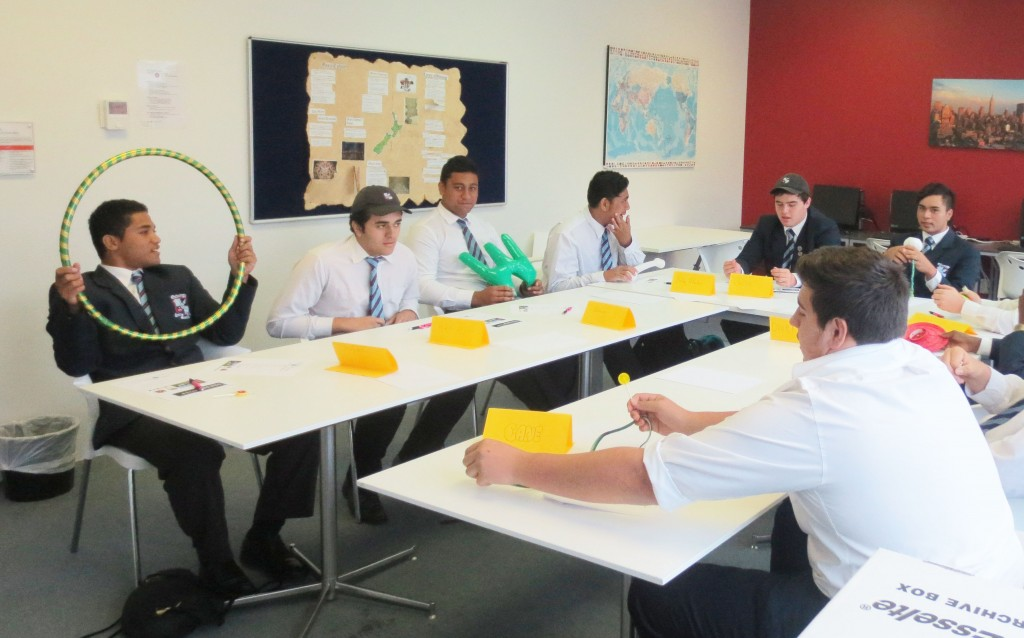 Secondary school students at a the ITC Level 2 Problem Solving short course