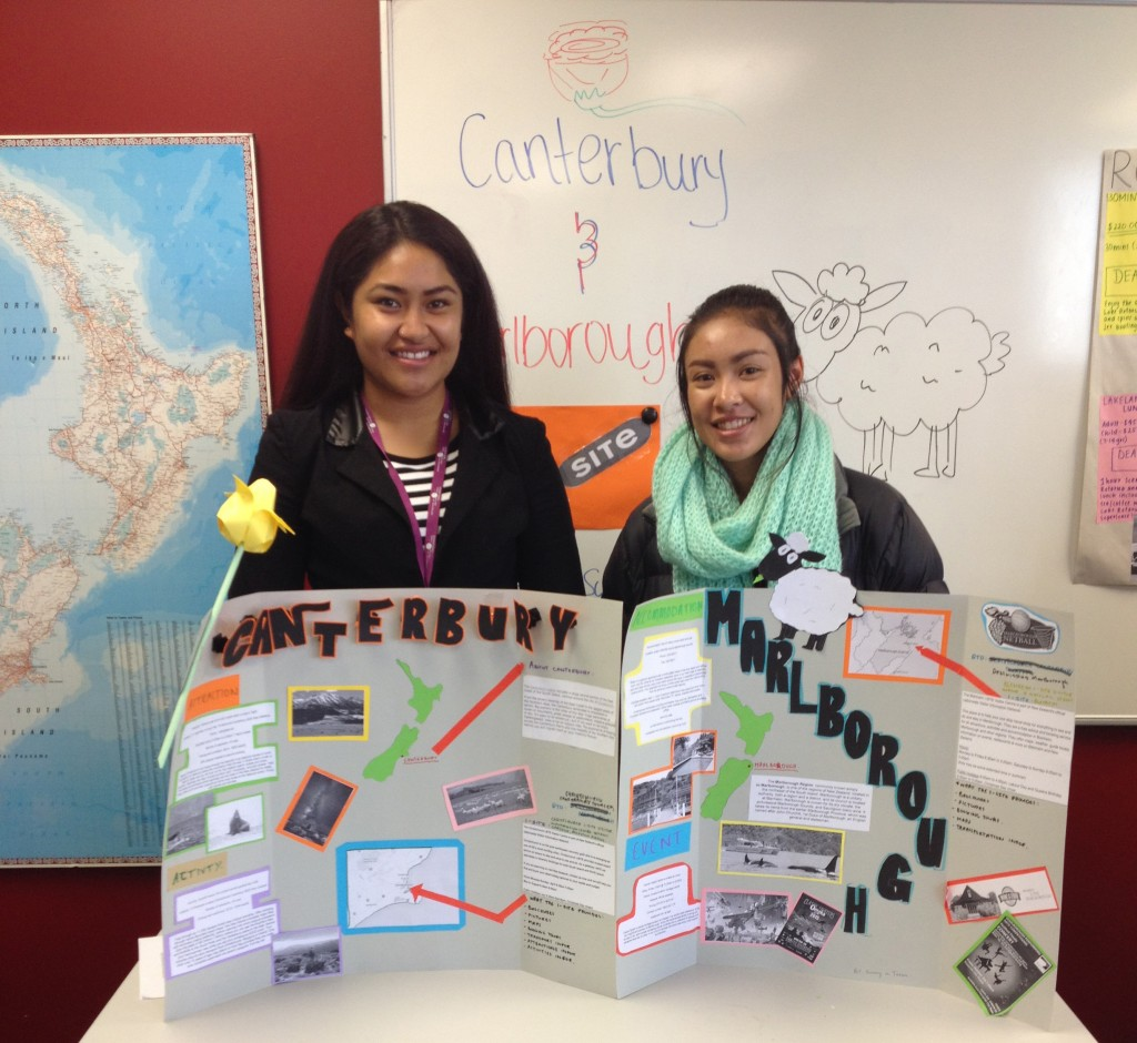ITC students showcased their knowledge of New Zealand's top tourism destinations during a recent assessment