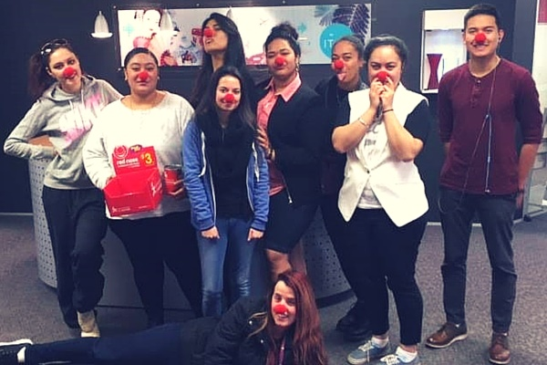 The generous students at ITC raised a total of $232.10 for Cure Kids on Red Nose Day