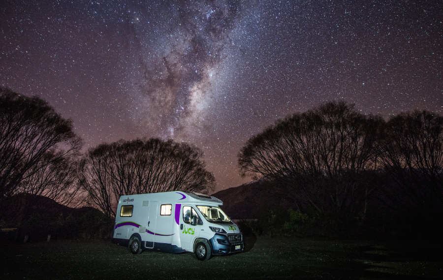 By hiring a car or a campervan, tourists have the chance to see a side of New Zealand they may not have experienced otherwise. Check out this beautiful spot - better than a night at a hotel, don't you think?