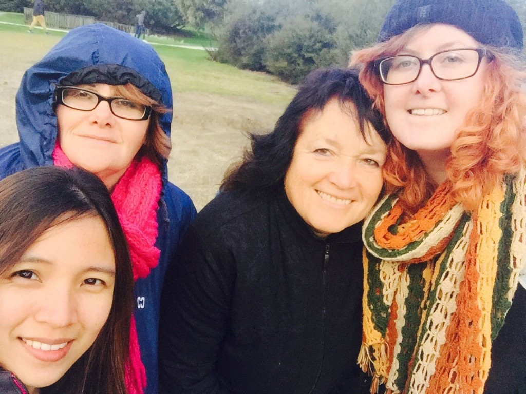 ITC student Kelsi (far right) with some of her classmates on the August Famil Trip to Rotorua and beyond.