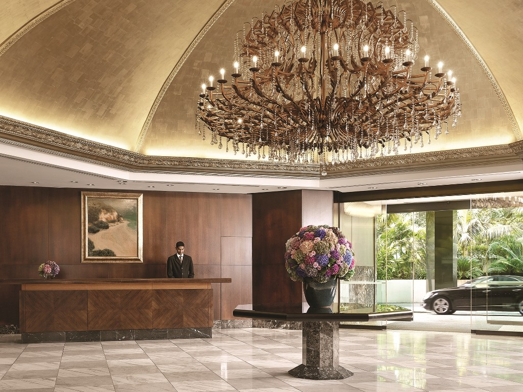 Pictured: The gorgeous lobby in The Langham Hotel, Auckland.