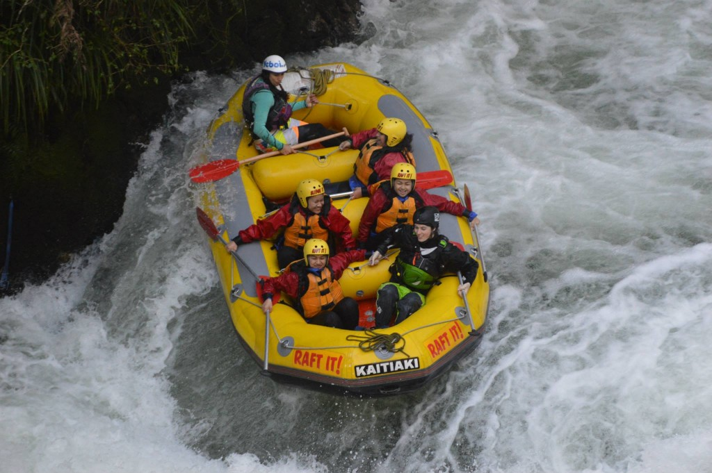 White water rafting with Kaitiaki