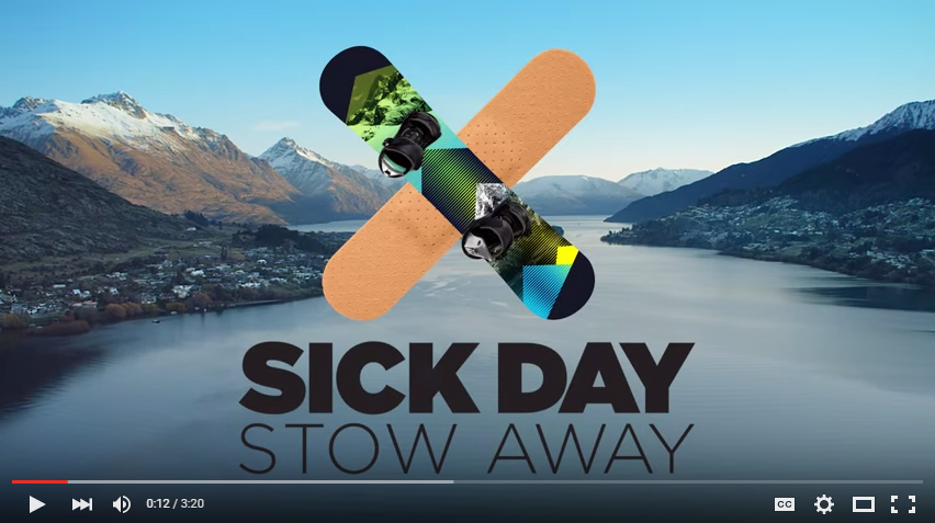 Sick Day Stow Away Queenstown campaign