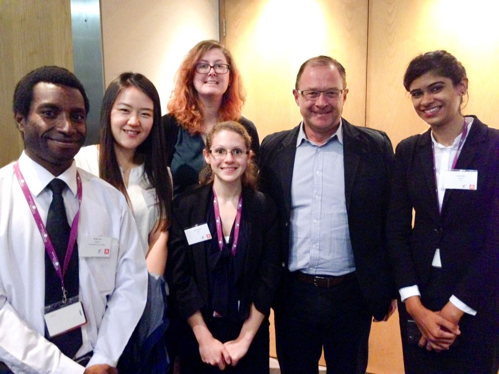 ITC Level 5 students with Tourism New Zealand chief executive Kevin Bowler