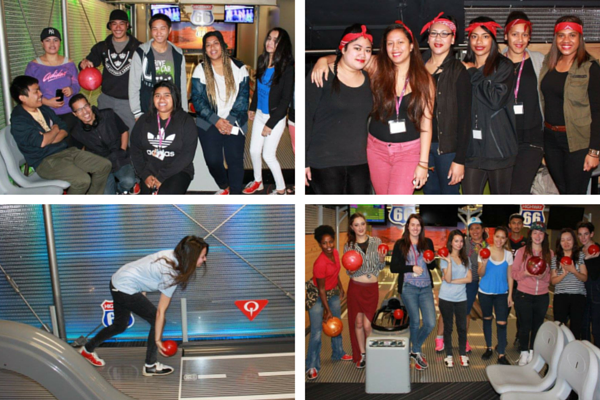 Students from ITC enjoy a fun day tenpin bowling at Metrolanes in Queen Street.