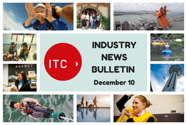 Welcome to the 30th edition of the ITC Industry News Bulletin! In this week's airline, travel and tourism news, NZ's top 10 Instagrammed locations are named, a new report shines a light on the current state of the industry and much more.