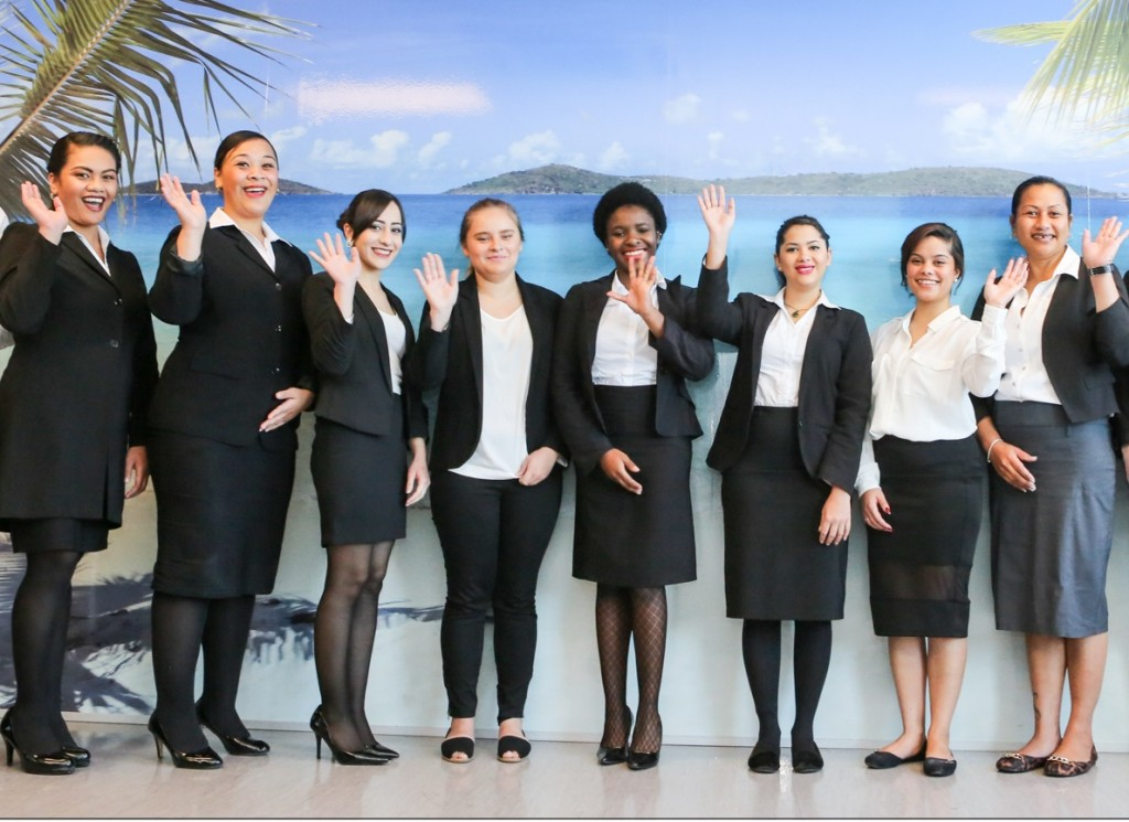 The International Travel College has a corporate black and white dress code so students look smart and professional every day.