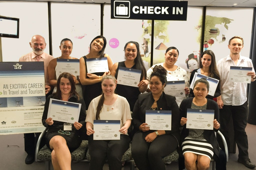 Several ITC students sat the IATA exam in December 2015. Here they are pictured with their certificates.
