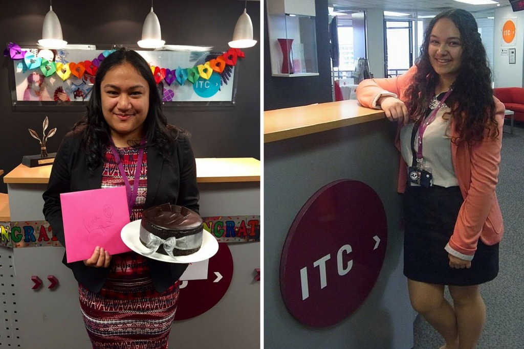 The lovely Aruna (on her birthday) and Susanne, our two fantastic student services advisors at ITC City Campus.