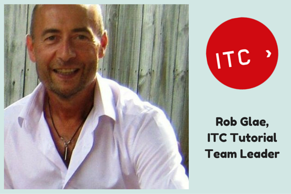 A warm welcome to Rob Glae, ITC's new Tutorial Team Leader.