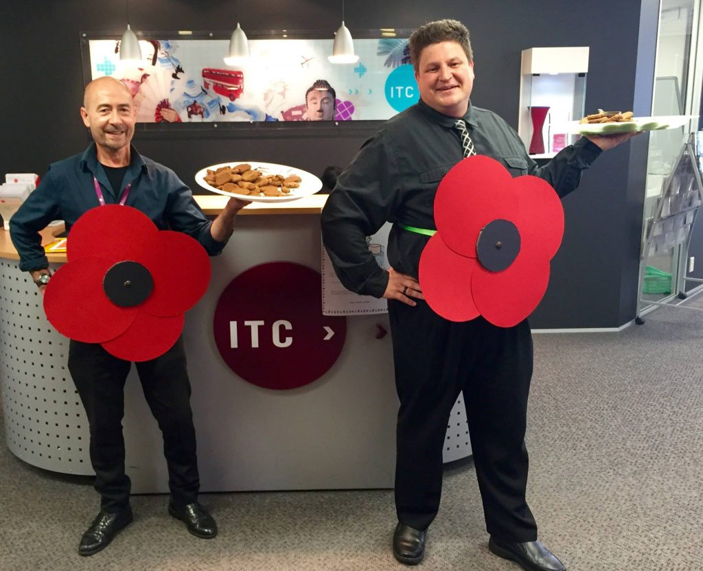 ITC Tutorial Team Leader Rob and Senior Tutor Jacques get into the ANZAC Day spirit.