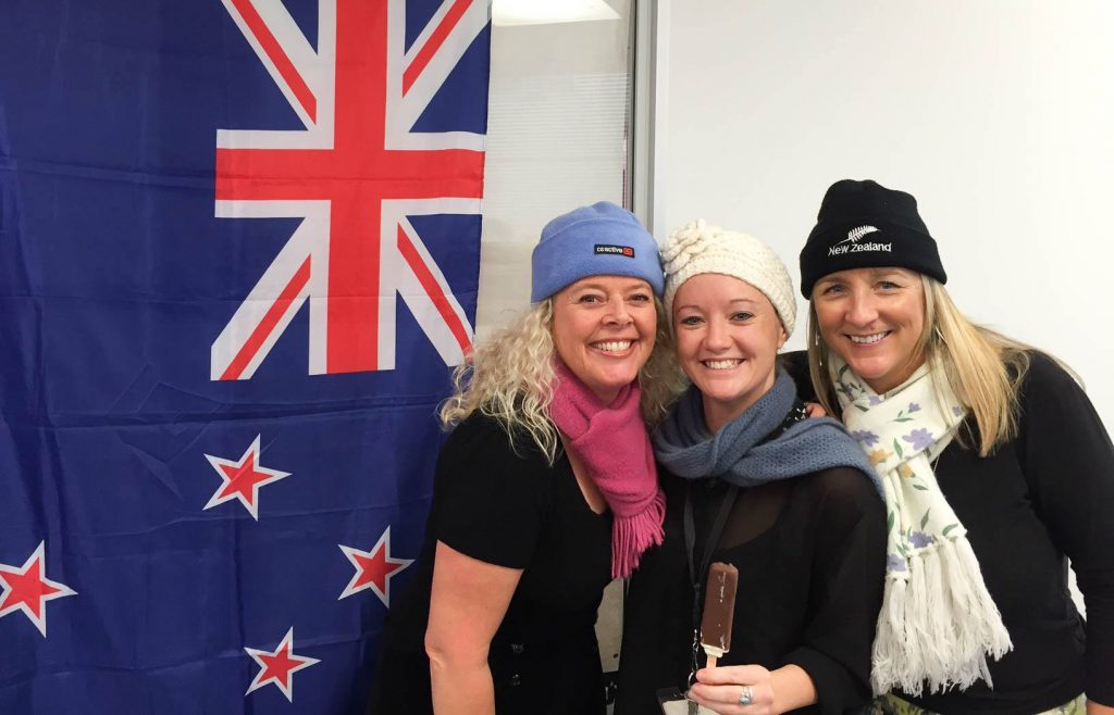 ITC Tourism Education Team Leader Mel Fey (centre), with Marketing Manager Claire Huxley (right) and Head of Group Services Michelle Chatfield.