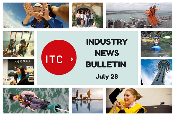 In this week's industry news, Tourism New Zealand takes out a top PR award, June visitor arrivals are strong, Air New Zealand launches a new safety video, and more.