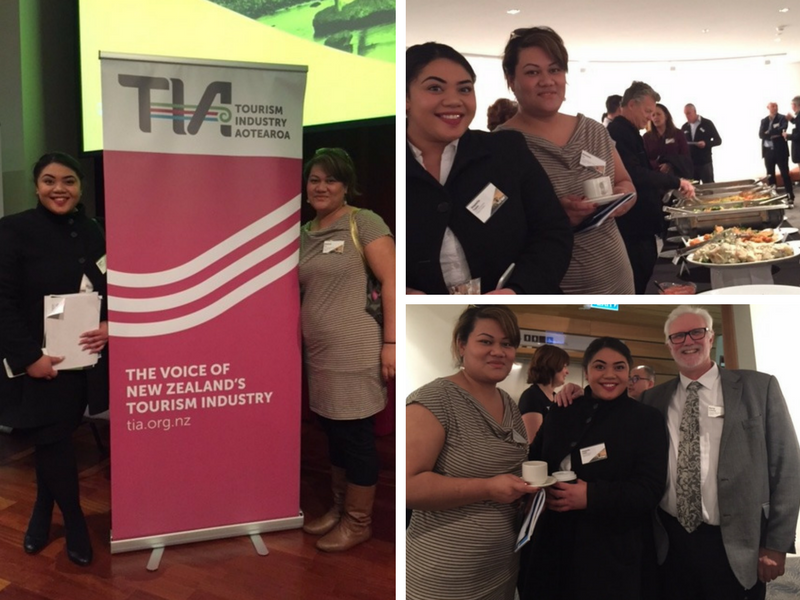 ITC students Meleane Teu and Alapasita Tupou recently attended the Discussing Tourism Auckland event. Here they are pictured together, and with ITC Managing Director Kerry Priestley.
