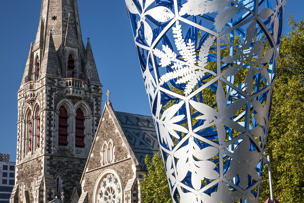 New Zealand Photos | Christchurch Cathedral, Chalice Sculpture, Christchurch, NZ