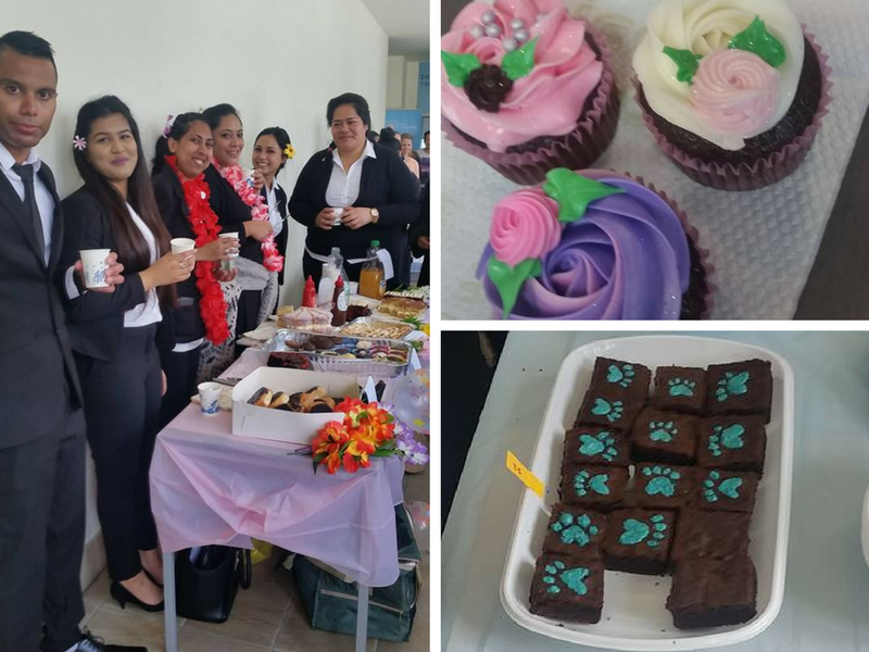 Students from ITC's Botany Campus recently held a bake sale to raise money for the SPCA.